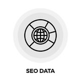 SEO Data Line Icon Images stock