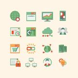SEO & database icon set Stock Images