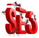 Seo de aperfeiçoamento do Search Engine ilustração royalty free