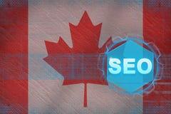 Seo de Canadá (otimização do Search Engine) Conceito de SEO Fotografia de Stock Royalty Free