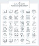 SEO-de diensten en Internet-Marketing Pictogrammen Vector Illustratie