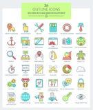 SEO-de diensten en WEBontwikkeling (Kleur) Vector Illustratie