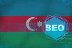 Seo de l'Azerbaïdjan (optimisation de moteur de recherche) Concept de SEO illustration libre de droits