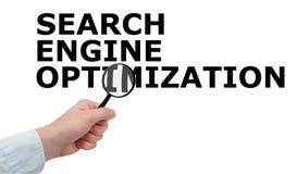 SEO - de Optimalisering van de Motor van het Onderzoek stock afbeelding