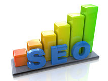 Seo. In the design of the information related to the Internet and promotion Royalty Free Stock Photography