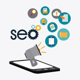 SEO design. Royalty Free Stock Photography