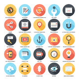 SEO and Development. Abstract vector set of colorful flat SEO and development icons with long shadow. Creative concepts and design elements for mobile and web Royalty Free Stock Images