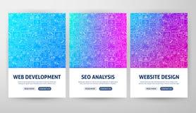 Seo Development Flyer Concepts illustration stock
