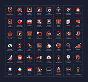 SEO and development icon set Royalty Free Stock Photo