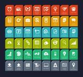 SEO and development icon set. Vector illustration eps-10 Stock Image