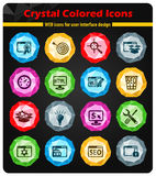 Seo and development icon set. Seo and development web icons for user interface design Stock Photography