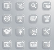 Seo and development icon set. Seo and development web icons for user interface design Stock Photo