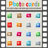 Seo and development icon set. Seo and development web icons for user interface design Stock Photos