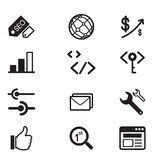 SEO and development icon Vector illustrarion symbol Stock Photos