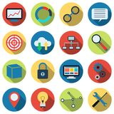 SEO and development icon vector set Stock Photography