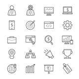 SEO Development Icons Line Stock Afbeelding