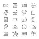 SEO Development Icons Line Stockbild