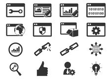 SEO and Development icons set Royalty Free Stock Photography