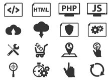 SEO and Development icons set Stock Photography