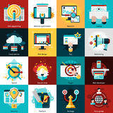 Seo Development Icons Royalty Free Stock Image