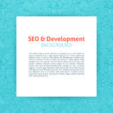 SEO Development Paper Template Photo libre de droits