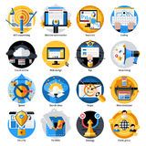 Seo Development Round Icons Set Image libre de droits