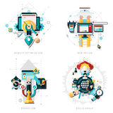 Seo Development Set Royalty Free Stock Images