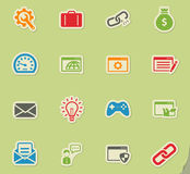 SEO and development simply icons Royalty Free Stock Images