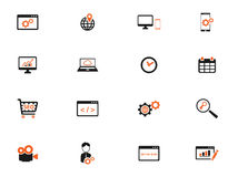 SEO and development simply icons Royalty Free Stock Photos