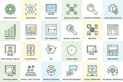 Seo and Development Vector Icons 1 Stock Photography