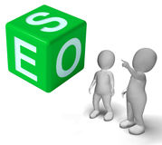 Seo Dice Represents Internet Optimization Royalty Free Stock Images
