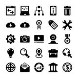 Seo and Digital Marketing Glyph Vector Icons 6 Stock Image