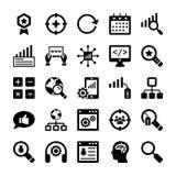 Seo and Digital Marketing Glyph Vector Icons 10 Stock Photos