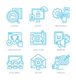 SEO and Digital Marketing Icons royalty free illustration