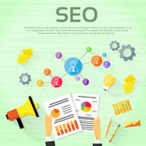 Seo Digital marketing Web Designer Workplace Royalty Free Stock Photo