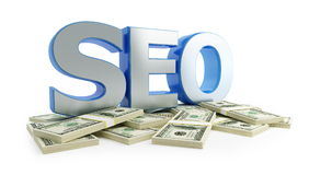 SEO dollar Stock Image