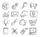 SEO Doodle Icons illustrazione vettoriale
