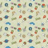 SEO Doodle Pattern Stockfoto