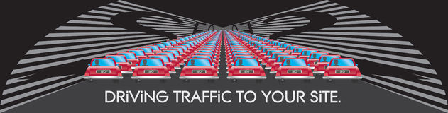 SEO Driving Traffic to Your Website Illustration Royalty Free Stock Photos