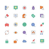 SEO e ícones coloridos mercado 1 do vetor Foto de Stock