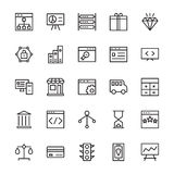 SEO e ícones 2 do vetor do esboço do mercado ilustração stock
