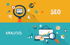 SEO e análise Imagem de Stock