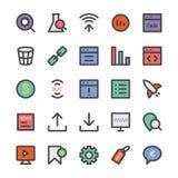 SEO e ícones 5 do vetor do mercado Imagens de Stock