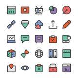 SEO e ícones 6 do vetor do mercado Imagem de Stock