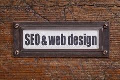 SEO e design web Imagens de Stock Royalty Free