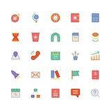 SEO e iconos coloreados márketing 2 del vector Fotografía de archivo libre de regalías