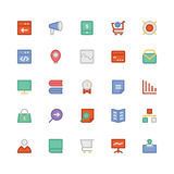SEO e iconos coloreados márketing 7 del vector Imagen de archivo libre de regalías