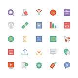SEO e iconos coloreados márketing 5 del vector Foto de archivo libre de regalías