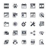 SEO e iconos coloreados márketing 2 del vector Imagen de archivo