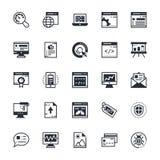 SEO e iconos coloreados márketing 1 del vector Imagen de archivo